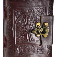 Tree of Life Blank Leather Journal w/ latch