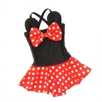 Childrens Swimsuit Cute One-piece Children's Swimwear Minnie Cartoon Baby Girl  Summer Kids Clothes Baby Bikini for Baby Girls KO_25_2