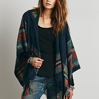 Free People Womens Sunset Hooded Ruana