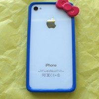 Hello Kitty Iphone 4 4s Bumper Hot Blue