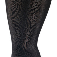 Black Revenge of the Burned Velvet Leggings Design 67