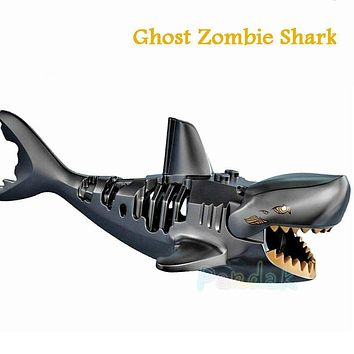 Ghost Zombie Shark Block Pirates of the Caribbean Single Sale Jack PG1008 Building Blocks Set Model Bricks Toys for Children