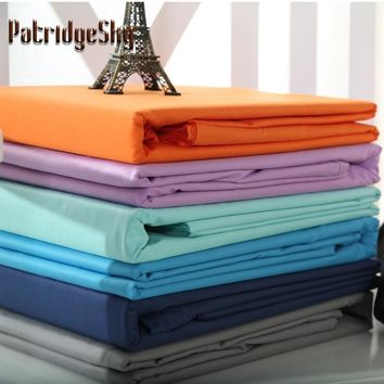 1 Piece Combed Cotton Solid Color Flat Sheet Bed Sheet Bed CoverBlack White Grey 5 Size Double Queen King 20 Color