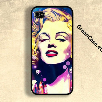 Marilyn Monroe iPhone Case , Artistic iPhone Case , Vintage Grunge Case : iPhone 4/4s Case , iPhone 5 Case , Galaxy S3 Case , Galaxy S4 Case
