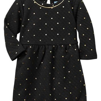 Gap Baby Factory Quilted Heart Dress