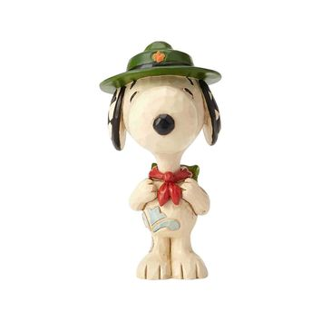 Jim Shore Peanuts Snoopy Boy Scout Mini Resin Figurine New with Box