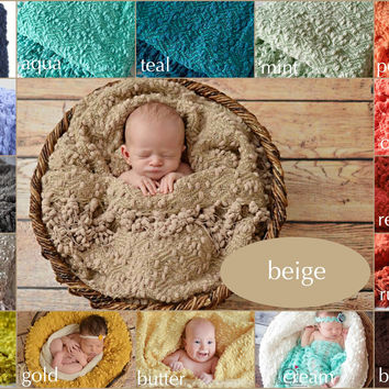 Popcorn Blanket Posing Fabric Newborn Photography Backdrop