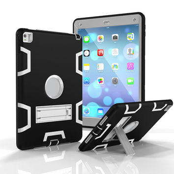 """For iPad Pro 9.7"""" Case laptop Bag Drop Resistance Protective Shell Skin Plastic Cover Cases For iPad Pro 9.7 inch With Kickstand"""