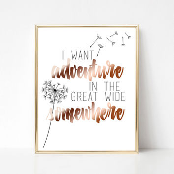 Adventure in the Great Wide Somewhere Print