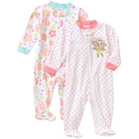 Garanimals Newborn Girl Cotton Sleep n Play, 2-Pack - Walmart.com
