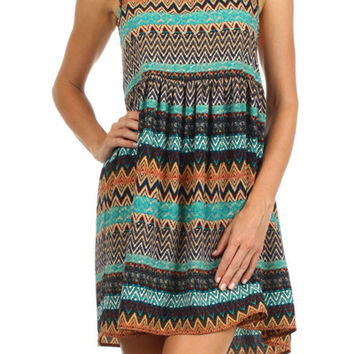 Freeway Stripe Print Tank Dress