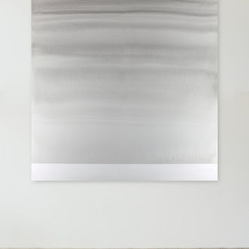 Large Gray and White Painting, Big Sky Abstract Painting, Winter Landscape