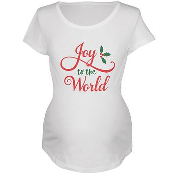 Christmas Joy to the World Script Maternity Soft T Shirt