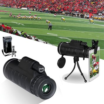 Zoomable 60X Monocular with Smartphone Attachment 40x60