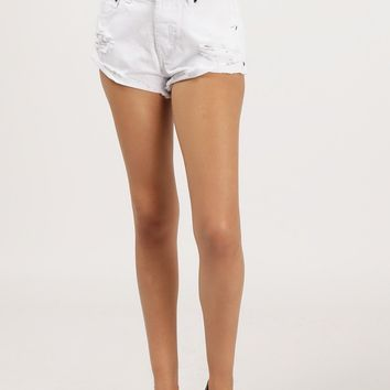 Destroyed Denim Cut Off Shorts