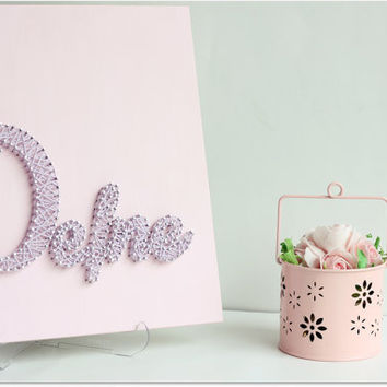 DEFNE - Personalized Baby name wall hanging,Wooden Baby Name Signs,Kids  nursery decor. Perfect gift for a little girl.