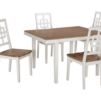 Brovada Rectangle Dining Set (5/Cn)  - Two-Tone