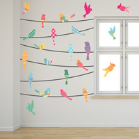 Pattern Birds on a Wire Wall Decals