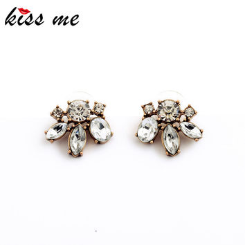KISS ME Cheap Price Vintage Style Small Resin Stone Stud Earrings Fashion Jewelry Women Retro Brincos