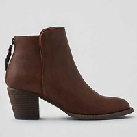 AEO Zip Back Heeled Bootie, Brown