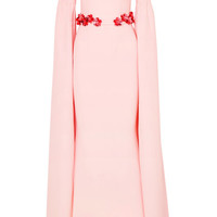Safiyaa - Octavia belted stretch-crepe gown