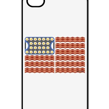 American Breakfast Flag - Bacon and Eggs iPhone 4 / 4S Case  by TooLoud