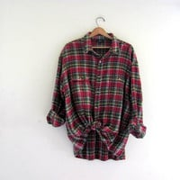 Vintage red boyfriend flannel / Grunge Shirt