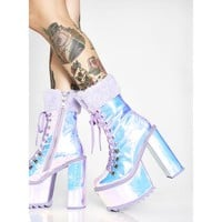 Frosted Fairyland Platform Boots