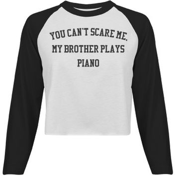 My brother plays piano: Creations Clothing Art