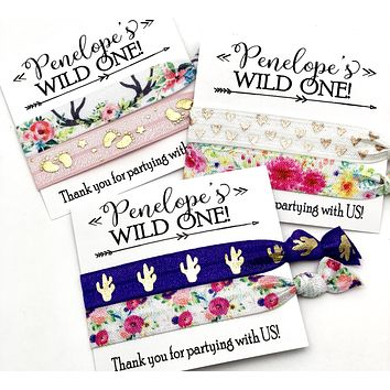 WILD ONE Custom Birthday Party Favors | Hair Tie Favor | Goody Bag | Kids Birthday | Teen Tween