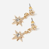 Star Rhinestone Drop Earrings