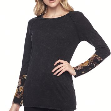 L/S Thermal Pull-Over W/ Sleeve Detail