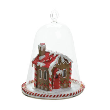 GINGERBREAD HOUSE BELL JAR
