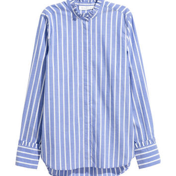 Cotton Blouse with Ruffles - from H&M