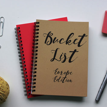 EUROPE EDITION - Bucket List -   5 x 7 journal