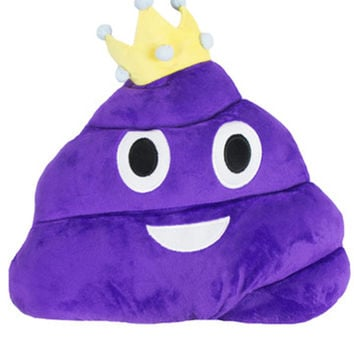 PRINCESS PURPLE POOP EMOJI PILLOW