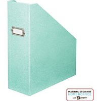 Martha Stewart Home Office™ with Avery™ Stack+Fit™ Shagreen Magazine File, Blue