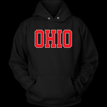 Ohio Jersey Font Red Hoodie