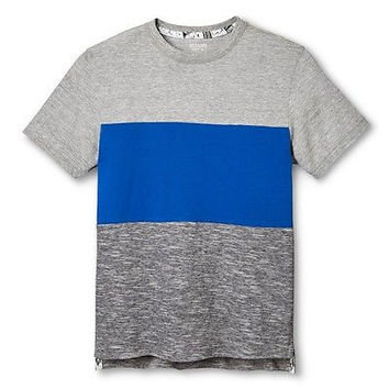 Mossimo Boys' Dip Dye Tee Shirt, Gray/Blue, Large