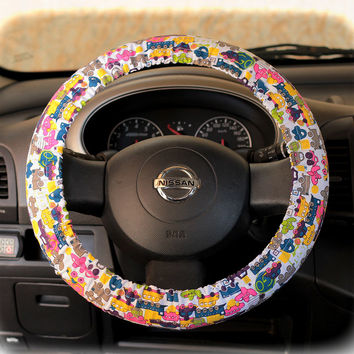 Steering Wheel Cover Bow Wheel Car Accessories Lilly Heated For Girls Interior Aztec Monogram Tribal Camo Cheetah Sterling Chevron Cars