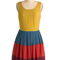 In Colorful Swing Dress | Mod Retro Vintage Dresses | ModCloth.com