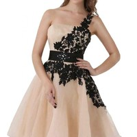 Sunvary Lace and Organza Homecoming Cocktail Dresses Bridesmaid Dresses Mini