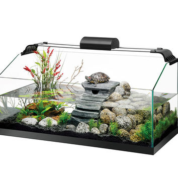Zilla Premium Rimless Aquatic Turtle Tank Kit 20 Gallon