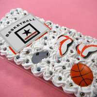 Basketball Phone Case, iPhone 6 Plus Case, Kawaii Decoden Phone Case, Sport Coach Phone Case, Gym Phone Case College 3D Phone Case