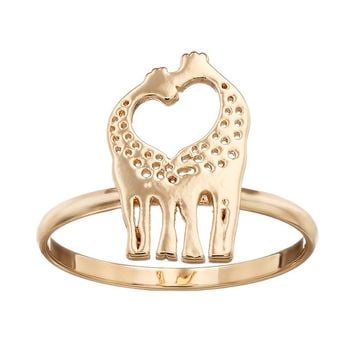 LC Lauren Conrad Giraffe Heart Ring (Yellow)