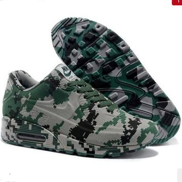 NIKE Trending Fashion Personality Camouflage Casual Sports Shoes Army green