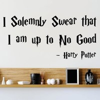 I Solemnly Swear That I Am Up To No Good Harry Potter Wall Or Window Decal Home Decor Bedroom Wall Stickers #84464