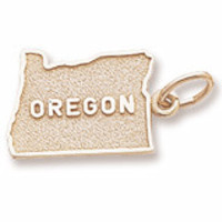 Oregon Charm In Yellow Gold