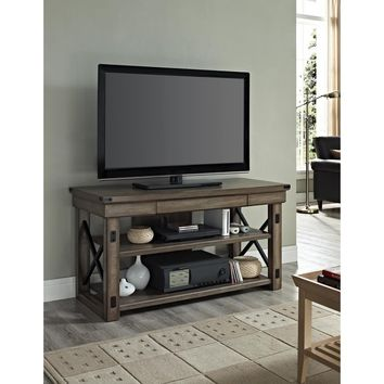 Altra Wildwood Rustic Grey Wood Veneer 50-inch TV Stand | Overstock.com Shopping - The Best Deals on Entertainment Centers