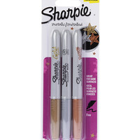 SHARPIE Metallic markers three pack